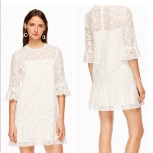 kate spade New York lace flounce shift dress